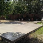 New Concrete Patio Slab with Walkway - Bankston Concrete Construction - San Antonio Texas