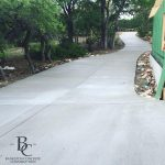 New Concrete Driveway with Trees - Bankston Concrete Construction - Concrete Contractor in San Antonio, TX