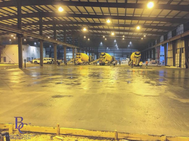 Commercial Concrete Paving for Industrial Building - Built by Bankston Concrete Construction - Commercial Concrete Contractor in San Antonio, TX