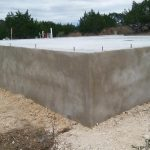 Thick concrete slab foundation