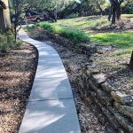 Residential Beautiful Curved Concrete Sidewalk - Bankston Concrete Construction - San Antonio Texas