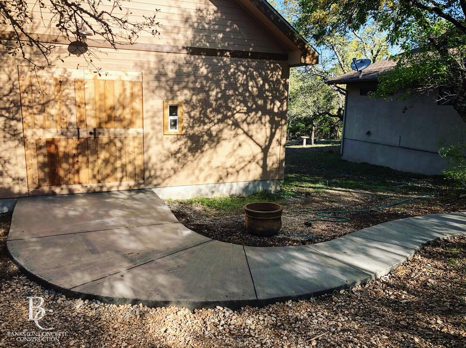 Concrete Pathway for a She Shed - Local Concrete Contractor - Bankston Concrete Construction - San Antonio Texas