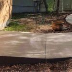 Beautiful Curved Concrete Walkway to She Shed - Built by Bankston Concrete Construction - Local Concrete Contractor in San Antonio, TX