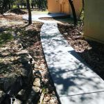 Concrete Pathway to a She Shed - Local Concrete Contractor - Bankston Concrete Construction - San Antonio Texas