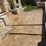 Stamped and Stained Concrete Stairs - Bankston Concrete Construction - San Antonio Texas
