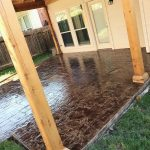 Residential Stamping and Staining Backyard Patio Construction - Bankston Concrete Construction - San Antonio Texas