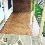 Stamped and Stained Concrete Backyard Patio - Bankston Concrete Construction - San Antonio Texas