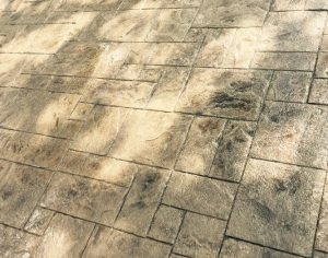 Stamped and Stained Concrete Patio Slab - Bankston Concrete Construction - San Antonio Texas
