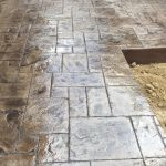 Stamped and Stained Concrete Patio - Local Concrete Contractor - Bankston Concrete Construction - San Antonio Texas