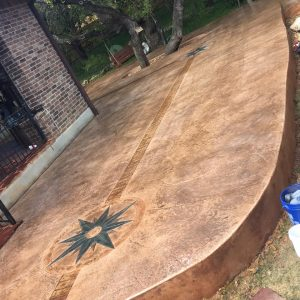 Concrete Stamped and Stained Patio - Bankston Concrete Construction - San Antonio Texas