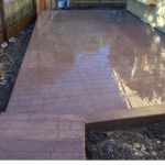 Stamped and Stained Concrete Patio - Bankston Concrete Construction - San Antonio Texas