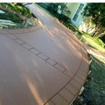 Stamped and Stained Residential Driveway - Concrete Contractor - Bankston Concrete Construction - San Antonio Texas