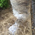 Beautiful Pathway Stamped and Stained Local Concrete Contractor - Bankston Concrete Construction - San Antonio Texas