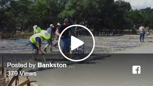 Zach Bankston (Owner) Working Concrete With Crew - Bankston Concrete Construction - Concrete Contractor - San Antonio, TX